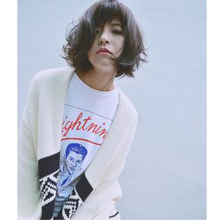 モード アッシュ 色気 黒髪 ヘアスタイルや髪型の写真・画像