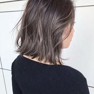 ミディアム 大人かわいい 外国人風 ナチュラル ヘアスタイルや髪型の写真・画像