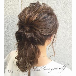 大人女子 ショート ハーフアップ セミロング ヘアスタイルや髪型の写真・画像
