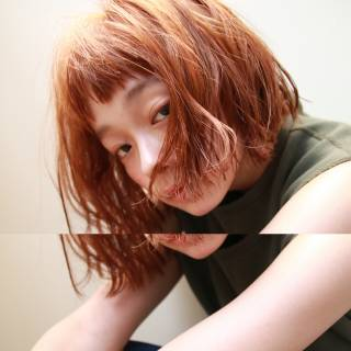 外ハネ マルサラ ウェットヘア ストリート ヘアスタイルや髪型の写真・画像