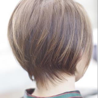 ミニボブ ナチュラル ショートボブ 小顔ショート ヘアスタイルや髪型の写真・画像