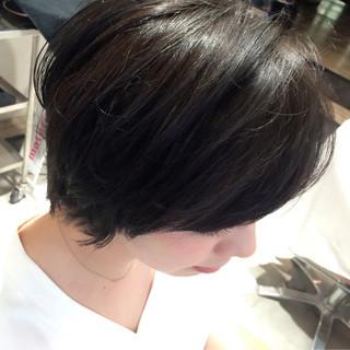 ピュア ストリート 黒髪 ハーフアップ ヘアスタイルや髪型の写真・画像