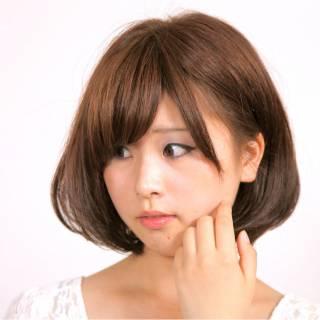 ガーリー ボブ ストリート モテ髪 ヘアスタイルや髪型の写真・画像