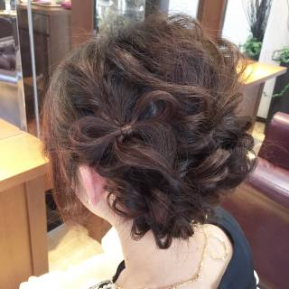 大人かわいい 簡単ヘアアレンジ アップスタイル ルーズ ヘアスタイルや髪型の写真・画像