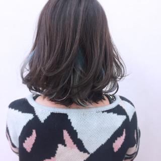 ミディアム カラフルカラー グラデーションカラー インナーカラー ヘアスタイルや髪型の写真・画像