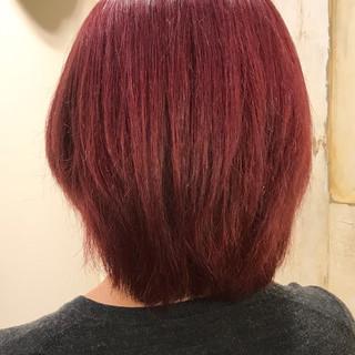 外国人風カラー ピンク ブリーチ ストリート ヘアスタイルや髪型の写真・画像