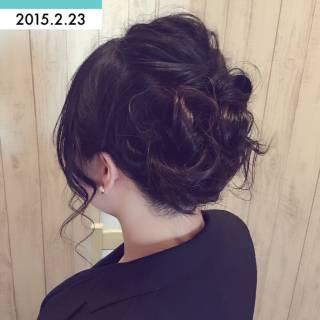 結婚式 ヘアアレンジ ルーズ 編み込み ヘアスタイルや髪型の写真・画像
