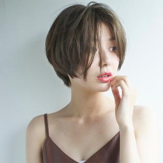 ショート 外国人風 大人かわいい ピュア ヘアスタイルや髪型の写真・画像
