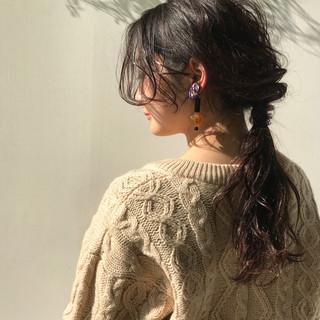 ヘアアレンジ ナチュラル 簡単ヘアアレンジ ミディアム ヘアスタイルや髪型の写真・画像 ヘアスタイルや髪型の写真・画像