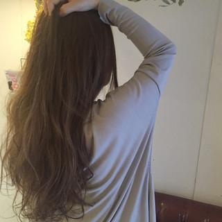 ストリート アッシュ ハイライト ロング ヘアスタイルや髪型の写真・画像 ヘアスタイルや髪型の写真・画像