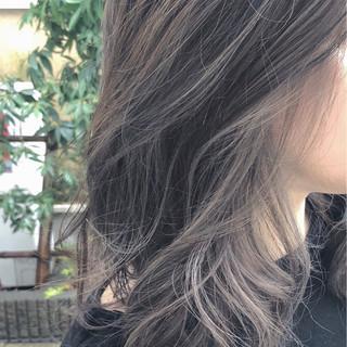 グラデーションカラー エレガント バレイヤージュ 上品 ヘアスタイルや髪型の写真・画像