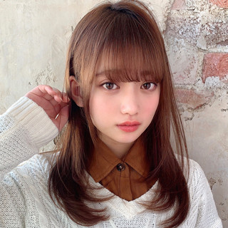 ナチュラル 後れ毛 髪質改善 小顔ヘア ヘアスタイルや髪型の写真・画像