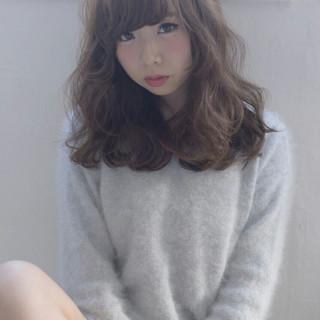 大人かわいい ガーリー かわいい 暗髪 ヘアスタイルや髪型の写真・画像