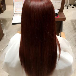 パープル ベリーピンク 愛され モテ髪 ヘアスタイルや髪型の写真・画像