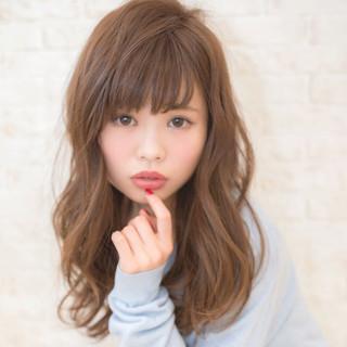 アッシュ ゆるふわ ミディアム グラデーションカラー ヘアスタイルや髪型の写真・画像 ヘアスタイルや髪型の写真・画像