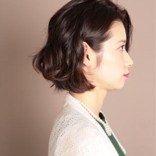 暗髪 簡単ヘアアレンジ フェミニン ゆるふわ ヘアスタイルや髪型の写真・画像