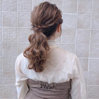 アンニュイほつれヘア フェミニン セミロング 結婚式 ヘアスタイルや髪型の写真・画像 ヘアスタイルや髪型の写真・画像