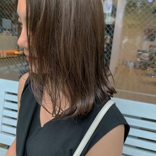 トリートメント セミロング 大人ミディアム ナチュラル ヘアスタイルや髪型の写真・画像