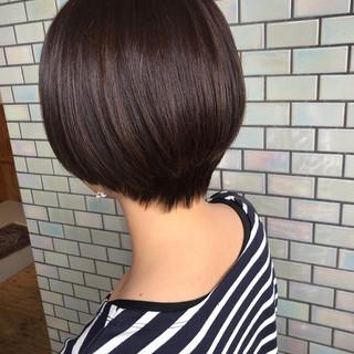 ナチュラル オフィス ショート デート ヘアスタイルや髪型の写真・画像 ヘアスタイルや髪型の写真・画像