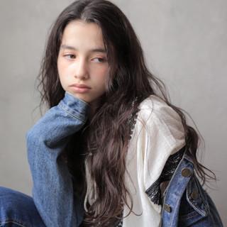 女子力 ウェーブ ロング パーマ ヘアスタイルや髪型の写真・画像 ヘアスタイルや髪型の写真・画像
