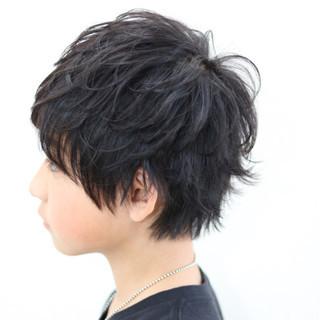 ショート メンズ 黒髪 子供 ヘアスタイルや髪型の写真・画像