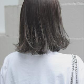 イルミナカラー オルチャン 切りっぱなし ナチュラル ヘアスタイルや髪型の写真・画像