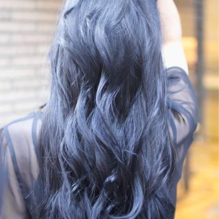 ダブルカラー ブルージュ グラデーションカラー ガーリー ヘアスタイルや髪型の写真・画像