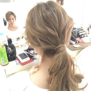 ショート ヘアアレンジ セミロング ゆるふわ ヘアスタイルや髪型の写真・画像 ヘアスタイルや髪型の写真・画像