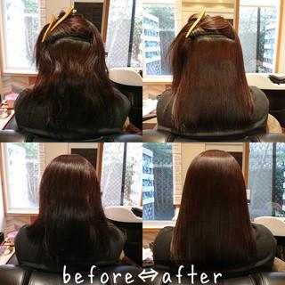 ロング トリートメント ナチュラル 髪質改善 ヘアスタイルや髪型の写真・画像