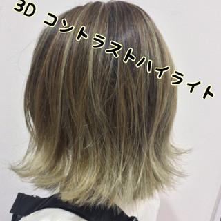 ヘアカラー ストリート 3Dカラー アッシュベージュ ヘアスタイルや髪型の写真・画像