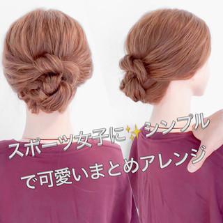 ヘアアレンジ ねじり スポーツ アップスタイル ヘアスタイルや髪型の写真・画像 ヘアスタイルや髪型の写真・画像