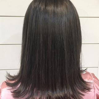 アッシュ ミディアム 外国人風 暗髪 ヘアスタイルや髪型の写真・画像