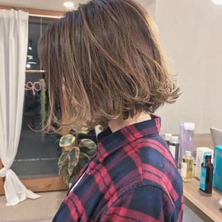 外ハネ デート ボブ ヘアアレンジ ヘアスタイルや髪型の写真・画像