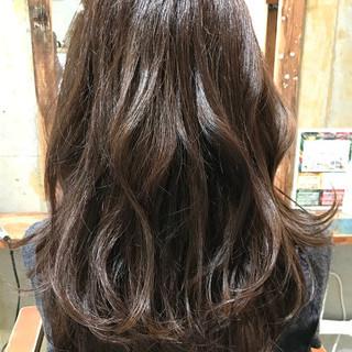 大人女子 アッシュ イルミナカラー マット ヘアスタイルや髪型の写真・画像