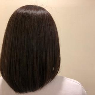 ミディアム 艶カラー ナチュラル 縮毛矯正 ヘアスタイルや髪型の写真・画像