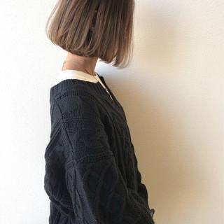 ベージュ グラデーションカラー ミニボブ ナチュラル ヘアスタイルや髪型の写真・画像