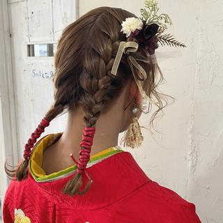 ナチュラル 卒業式 ミディアム ハンドメイド ヘアスタイルや髪型の写真・画像 | Nakaji. / ensue