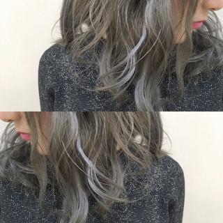 フェミニン ヘアアレンジ セミロング かわいい ヘアスタイルや髪型の写真・画像