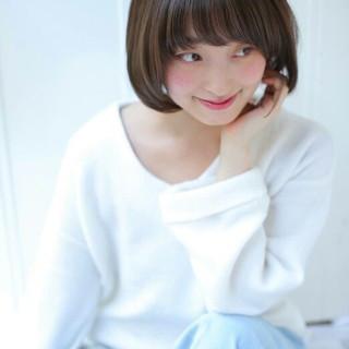 カーキ 大人かわいい 大人女子 ショート ヘアスタイルや髪型の写真・画像