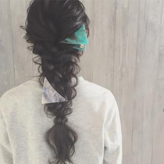 ロング 三つ編み ヘアアレンジ ディズニー ヘアスタイルや髪型の写真・画像 ヘアスタイルや髪型の写真・画像