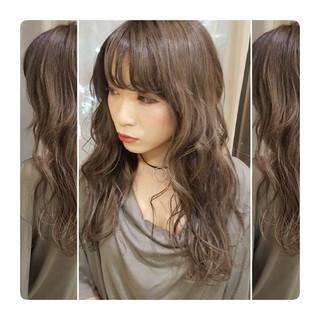 外国人風 ロング リラックス ウェーブ ヘアスタイルや髪型の写真・画像