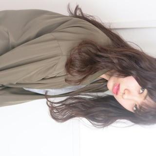 丸顔 ゆるふわ 黒髪 暗髪 ヘアスタイルや髪型の写真・画像