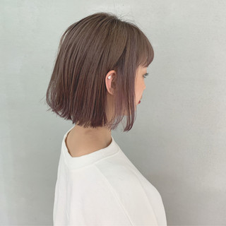 ダブルカラー ボブ ショートボブ ナチュラル ヘアスタイルや髪型の写真・画像