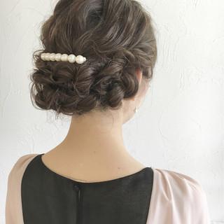 フェミニン ピュア ゆるふわ ヘアアレンジ ヘアスタイルや髪型の写真・画像