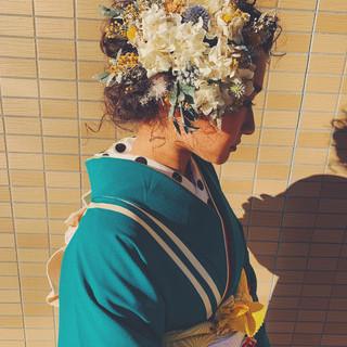成人式ヘアメイク着付け ヘアアレンジ 成人式 アンニュイほつれヘア ヘアスタイルや髪型の写真・画像