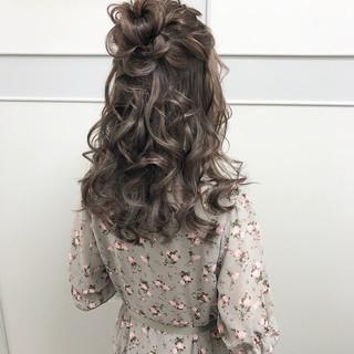 ヘアアレンジ 大人可愛い 結婚式 ロング ヘアスタイルや髪型の写真・画像
