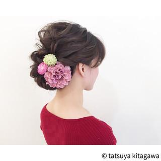 結婚式 デート エレガント アップスタイル ヘアスタイルや髪型の写真・画像