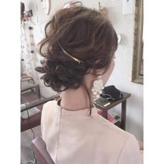 大人かわいい フェミニン 結婚式 ヘアアレンジ ヘアスタイルや髪型の写真・画像