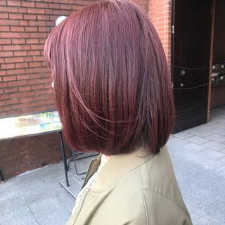 ピンク ハイライト ラベンダーピンク ナチュラル ヘアスタイルや髪型の写真・画像