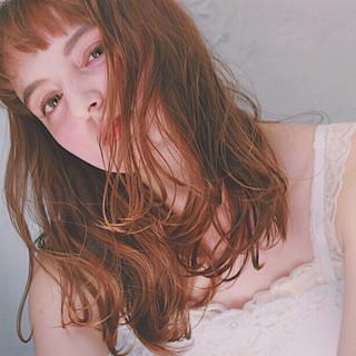 ワイドバング パーマ 外国人風 前髪あり ヘアスタイルや髪型の写真・画像